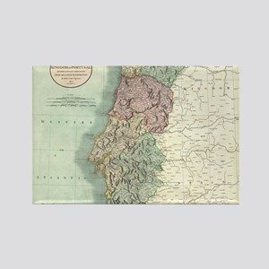 Vintage Map of Portugal (1801) Rectangle Magnet